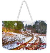 Country Lane Holiday Card Weekender Tote Bag