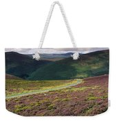 Country Road Passing Through A Weekender Tote Bag