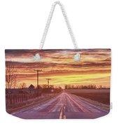 Country Road Sunrise Weekender Tote Bag