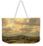 Country Road With Wildflowers Weekender Tote Bag