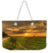 Country Roads Sunset Weekender Tote Bag