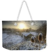 Country Snow And Sunrise Weekender Tote Bag by Yhun Suarez