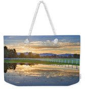 Country Sunset Reflection Weekender Tote Bag
