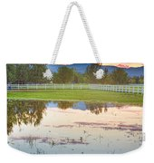 Country Sunset Reflections Weekender Tote Bag
