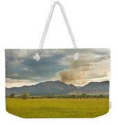 Country View Of The Flagstaff Fire Weekender Tote Bag