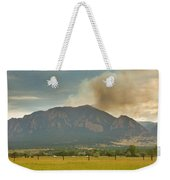 Country View Of The Flagstaff Fire Panorama Weekender Tote Bag