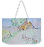 Country Woodshed Weekender Tote Bag by Debbie Portwood