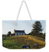 County Cork, Ireland Farmer On Tractor Weekender Tote Bag