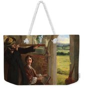 Couple Observing A Landscape Weekender Tote Bag by English School