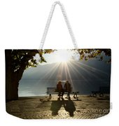 Couple On A Bench Weekender Tote Bag