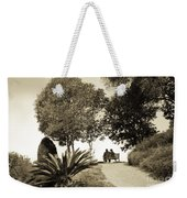 Couple On The Bench In Venice Weekender Tote Bag by Madeline Ellis