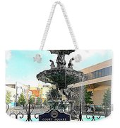 Court Square Fountain Weekender Tote Bag