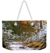 Courthouse River In The Fall Weekender Tote Bag