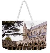 Courtyard Salisbury Cathedral - England Weekender Tote Bag