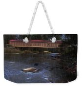 Covered Bridge In The Rain Weekender Tote Bag
