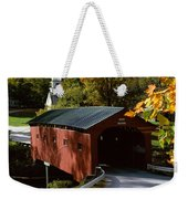 Covered Bridge In Vermont Weekender Tote Bag