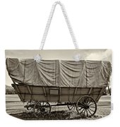 Covered Wagon Sepia Weekender Tote Bag