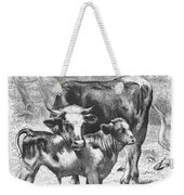 Cow And Calf Weekender Tote Bag