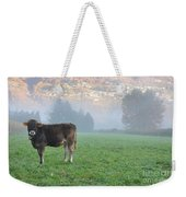 Cow On The Foggy Field Weekender Tote Bag