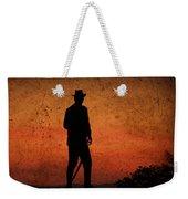 Cowboy At Sunset Weekender Tote Bag
