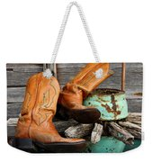 Cowboy Boots Western Still Life Weekender Tote Bag