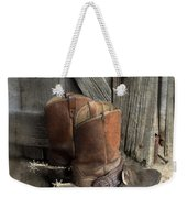 Cowboy Boots With Spurs Weekender Tote Bag