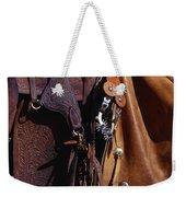 Cowboys Saddle And Chaps Detail Weekender Tote Bag
