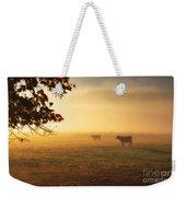Cows In A Foggy Field Weekender Tote Bag