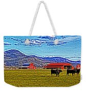 Cows Pasture Barns Superspecialeffect Weekender Tote Bag