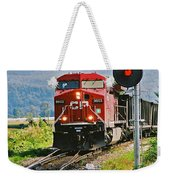 Cp Coal Train And Signal Weekender Tote Bag