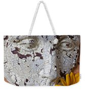 Cracked Face And Sunflowers Weekender Tote Bag