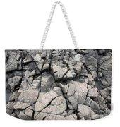 Cracked Rocks On Shore Weekender Tote Bag