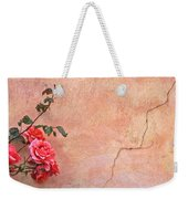 Cracked Wall And Rose Weekender Tote Bag