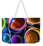 Crackled Paint Weekender Tote Bag