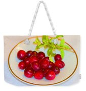 Cranberries And Mint Weekender Tote Bag