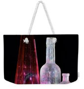 Cranberry And White Bottles Weekender Tote Bag