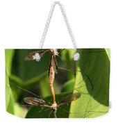 Crane Flies Mating Weekender Tote Bag