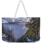 Crater Lake And Approaching Clouds Weekender Tote Bag