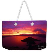 Crater Lake Fire In The Sky Weekender Tote Bag