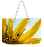 Crawling Along The Sunflower Weekender Tote Bag