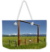 Crazy Mountain Ranch Gate Weekender Tote Bag