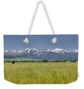Crazy Mountain Range Weekender Tote Bag