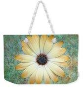 Cream Coloured Daisy Weekender Tote Bag