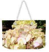 Cream Pink Hydrangea Flowers Art Prints Floral Weekender Tote Bag