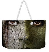 Creepy Cracked Face With Tears Weekender Tote Bag by Jill Battaglia