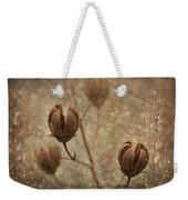 Crepe Myrtle Seed Pods With Grunge And Textures Weekender Tote Bag