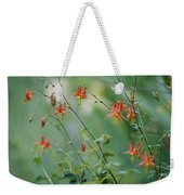 Crimson Columbines Aquilegia Formosa Weekender Tote Bag
