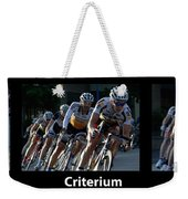 Criterium With Caption Weekender Tote Bag