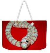 Crochet Snake In Red Weekender Tote Bag