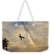 Crop Duster Under The Jet Trail Weekender Tote Bag